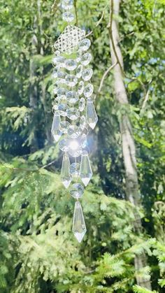 Recycled House, Crystal Magic, Etsy Shipping, Garden Crafts, Suncatchers, Glass Ornaments, Bead Crafts, Wind Chimes, Diy Projects