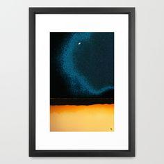 """New Moon - Phase II  by Marina Kanavaki Framed Art Print / Vector Black SMALL (15"""" x 21"""")  $43.00 New Moon Phase, Moon Phases, Framed Art Prints, Watercolor Paintings, Black, Water Colors, Black People, Watercolour Paintings, Watercolor Painting"""