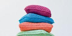 coussins colorés en tricot DIY