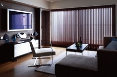Rakuten: Dark wood blinds vertical piece using the Board, vertical wood blinds wood blinds Lind-draped wooden type- Shopping Japanese produc. Wood Blinds, Home, Teds Woodworking, Home And Living, Interior, Blinds, Wine Room, Woodworking Projects, Living Spaces