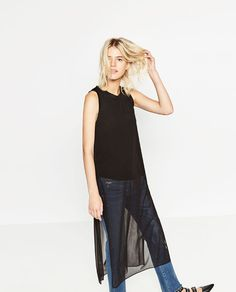 Image 1 of TULLE TUNIC from Zara