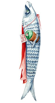Sardinhas // Festas de Lisboa ~  Sophia Pereira Line Artwork, Fish Art, Amazing Art, Food Illustrations, Fish Painting, Fish Design, Street Art, Sea Design, Art World