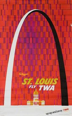 Vintage TWA Poster St. Louis (David Klein)