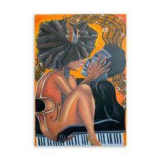 Black Love Artwork, Black Art Painting, Black Art Pictures, Painting Prints, Sexy Black Art, Black Girl Art, Black Couple Art, African American Artwork, Canvas Painting Tutorials