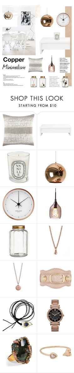 """""""Copper Minimalism"""" by anna-lena-als ❤ liked on Polyvore featuring interior, interiors, interior design, home, home decor, interior decorating, John Robshaw, Diptyque, Tom Dixon and Georg Jensen"""