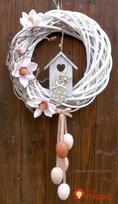 attractive easter wreaths that looks fancy captivating ethinify easter wreath easter decor spring wreath spring door spring decor bunny wreath bunny decor Easter Wreaths, Holiday Wreaths, Summer Wreath, Diy Wreath, Spring Crafts, Easter Crafts, Flower Arrangements, Diy And Crafts, White Wicker