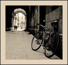 Bicicleta y puente refugio. Miguel Rabal