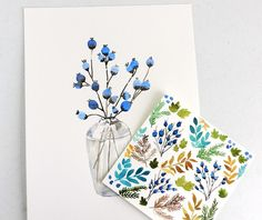 Watercolor Rustic Fall Collection by Elise Engh