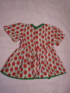 Puppenkleidung-Kleid-ca-19cm-Vintage