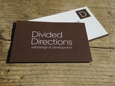 Divided Directions #business #cards #corporate #identity | Uploaded by www.drukwerkdeal.nl