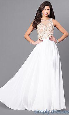 f904d0409bc Elizabeth K Long Beaded Bodice Prom Dress Pretty Prom Dresses