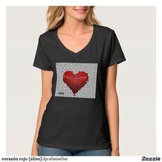 corazón rojo (eliso) camisetas