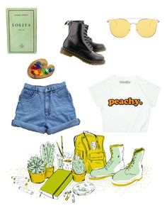 """""""Art Hoe 1"""" by wannabe-art-student on Polyvore featuring Dr. Martens, aesthetic and arthoe"""