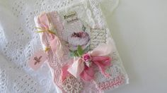Rose Travel Journal Shabby Notebook Lace Mini by underthenightmoon