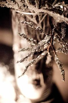 Rustic Winter Wedding Decor- looks like little ice-cicles