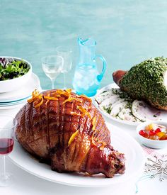 Glazed ham on http://www.gourmettraveller.com.au/recipes/recipe-search/feature-recipe/2013/11/glazed-ham/