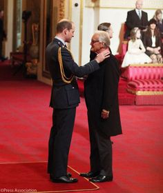 BritishMonarchy on Twitter:  Duke of Cambridge held investitures at Buckingham Palace, March 11, 2016-the Duke presents the Commander of the British Empire to Iain Douglas-Hamilton for his wildlife conservation work with elephants
