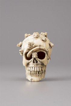 An Ivory memento mori skull