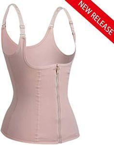 3877d4816c099 Eleady Women s Underbust Corset Waist Trainer Cincher Steel Boned Body  Shaper Vest with Adjustable Straps (S