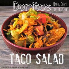 DELICIOUS Doritos Taco Salad recipe that everyone at home will love!