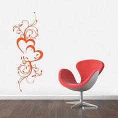 Květinová dekorace IV. - samolepka na zeď