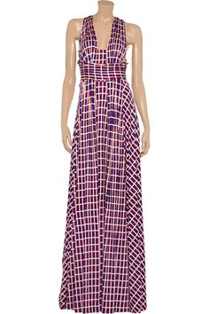 Issa Silk-jersey halterneck maxi dress - 65% Off Now at THE OUTNET