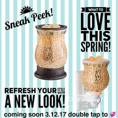 2 can't-miss trends coming soon to Rock your Spring!  Learn more💞 GObeFragrant.com #sneakpeek #new#warmers #scent #scents #scented #waxmelts #scentedwax #soywax #fragrance #smells #smellssogood #smellsgood #warmer #waxwarmer #scentedwax #decor #style #decorate #mompreneur #momlifeisthebestlife #momlifestyle #mompreneurs #stayathomedad #stayathomemom #workfromhome #workfromhomemom #sahm #workfromhomedad #wahm