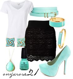 """""""Minted Chochet"""" by onyxrose21 on Polyvore"""