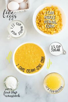 A bowl of food on a plate, with Corn pudding Baked Corn Casserole, Corn Pudding Casserole, Easy Corn Pudding, Sweet Corn Pudding, Corn Pudding Recipes, Best Casserole Dish, Vegetable Casserole, Corn Recipes, Casserole Dishes