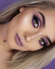Wedding makeup purple brides ideas for 2019 - Wedding Dress - Brautjungfern make-up Eye Makeup On Hand, Purple Eye Makeup, Eyebrow Makeup, Skin Makeup, Eyeshadow Makeup, Makeup Art, Purple Wedding Makeup, Pastell Make-up, Lila Make-up