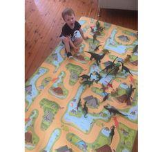 PRE ORDER Dinosaurs / B&W Honeycomb 240x140x1cm