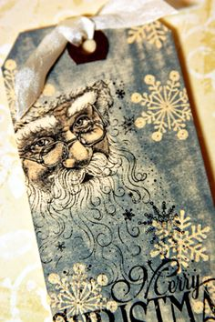 Tim Holtz Christmas tag tags-of-all-types Christmas Gift Tags, Xmas Cards, Holiday Cards, Christmas Crafts, Christmas Boxes, Christmas Paper, Christmas Ideas, Handmade Tags, Mix Media