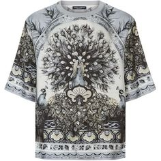 2d4b81a4a Dolce & Gabbana Peacock Print T-Shirt ($825) ❤ liked on Polyvore