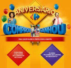 Receba prêmios instantâneos e descontos no aniversário do Carrefour, veja como participar #carrefour #descontos #aniversário #promoção #dicas #vantagens #ofertasdodia