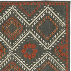 Bessie Wool Dhurrie Rug | Crate and Barrel