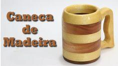 Caneca de Madeira com apenas Serra Tico-tico e Furadeira Epoxy Table Top, Diy Woodworking, Carving, Pottery, Ceramics, Mugs, Tableware, Boutique, Youtube