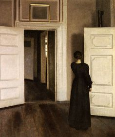 Vilhelm Hammershoi There's something about this painting that I love