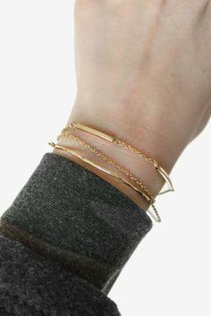 Always layering the bracelets <3