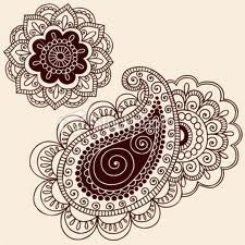 Paisley in brown and cream