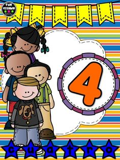Números del 1 al 10 ~ Imágenes Creativas School Clipart, Binder Covers, Drawing For Kids, Math Centers, Classroom Decor, Preschool Activities, Kids And Parenting, Back To School, Kindergarten