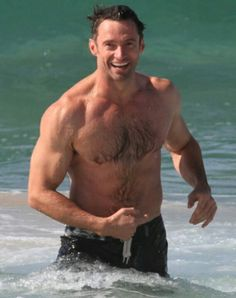 Hugh Jackman..... oh my word, he's delicious.
