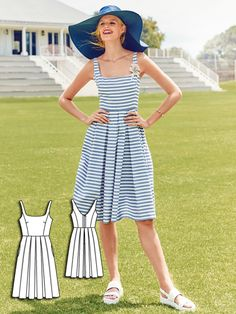 A-Line Dress 07/2016 #111B http://www.burdastyle.com/pattern_store/patterns/a-line-dress-072016