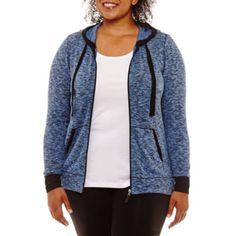 Long Sleeve Cozy Comfort Full Zip Hoodie-Plus