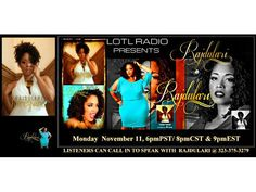 LOTL Welcomes Jazz Vocalist Rajdulari 11/11 by LOTLRADIO THE QUIET STORM   Entertainment Podcasts