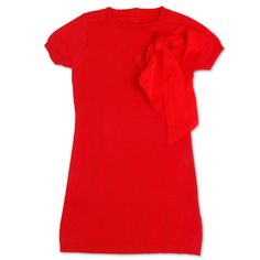 Bengh red cotton dress with big satin bow. € 75,00