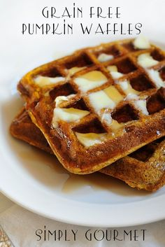 Grain Free Pumpkin Waffles are quite good if you ask me or my kids. We make these all the time, even in the months that don't begin wit...