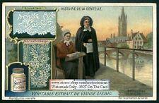 Bonito 1914 Tarjeta-Historia Del Encaje Bélgica artes manualidades