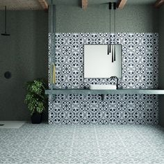 Cuban Pattern Kitchen Tiles Fall in love with the patterns of the Cuban range. Made from Porcelain, the Cuban collection boasts attributes that inject a modern design into your kitchen. Cuban Decor, Patterned Kitchen Tiles, Small Hallways, Wall And Floor Tiles, Tile Patterns, Kitchen Design, Modern Design, House Design, Flooring