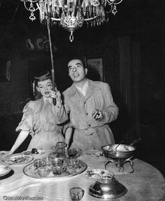 Judy Garland and Vincente Minnelli on the set of Meet Me in St. Louis (1944)