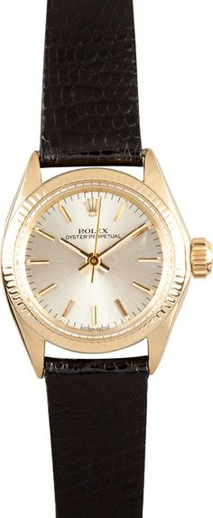 Rolex Ladies Gold Oyster PerpetualSave up to 50% at Bob's Watches